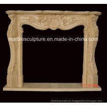 Low Price Hand Carved Marble Fireplace (SY-MF159)