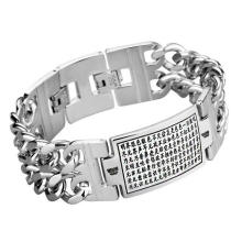 Gothic Punk Style Stainless Jewelry ID Bracelets Carved Pattern