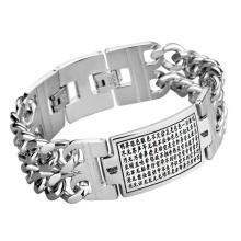 Padrão de pulseiras de identificação de jóia de estilo gótico punk esculpida gótico