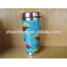 proveja por atacado feita em china classe superior inox promocional cerâmica cor alterando caneca