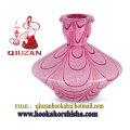 Vase narguilé moyen rose Shisha de verre à motifs narguilé bouteille