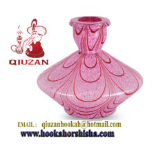 Medium Pink Shisha Glass Hookah Vase Patterned Hookah Bottle