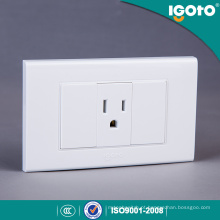 Igoto American Standard Receptacle Electrical 3 Pin Wall Socket