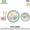 Tier-Design-Baby-Bambus-Faser-Geschirr setzt (HDP-2082)