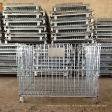 Gaiola de armazenamento soldada dobrável / gaiola do armazém