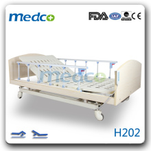 H202 Hot! Two functions electric homecare patient bed with wheels