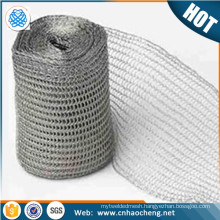 Customized width Tinned Knitted Copper Wire Mesh shielding mesh tape