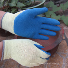 Palm Coated Gloves Safety Blue Latex Work Glove China Manufactures
