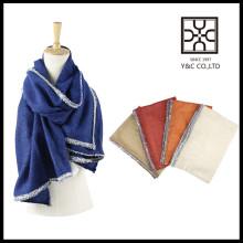Новый дизайн Мода Твердый цвет Теплый Китай Зимний шарф