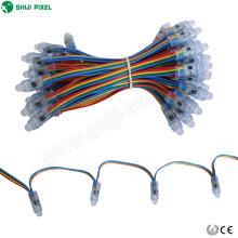 RVB pleine couleur led mini point lumière RGB pixel LED lumières point de rupture continuelle 12mm WS2818