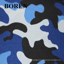 Camouflage Militaire Poly / Coton Tissu Imprimé Imperméable à l'eau