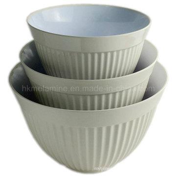 Two Tone Round Melamine Salad Bowl