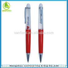 Custom promotional liquid floating pen with 3D floater