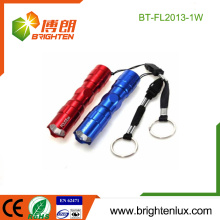 Factory Bulk Sale Custom Aluminium Cheap 1 * cellule AA Powered Bright Promotionnel 1watt Portable mini led lampe de poche Keychain