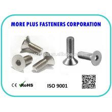 Made in Taiwan m3 black screws Hexagon socket countersunk head screws DIN 7991