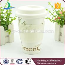 2015 Modern Ceramic Promotional Mug Silicon Lid