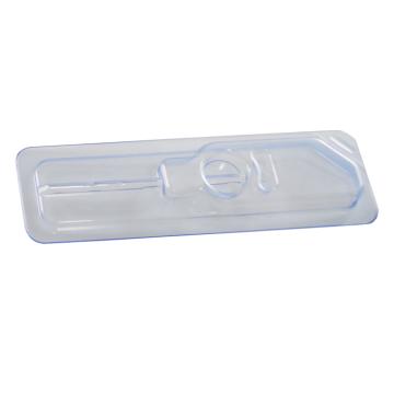 Матовый белый шприц для инъекций в термоформованной пластиковой блистерной коробке
