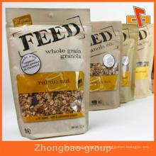Пластиковые / бумажные подставки Ziplock Laminted Seal Packaging Bag с прозрачным окном для Granola