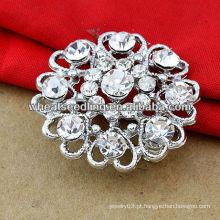 Crystal Broche Pin Floral Casamento BH35