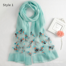 Fashion Lightweight large womens printed floral nice muslim head scarf