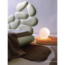 Moderno hogar lámparas de cama de vidrio con bulbo E14 (MT10410-1-250)