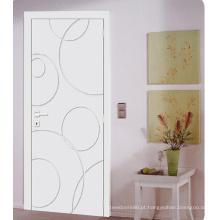Feito em portas do projeto moderno da casa de China nivelado, portas pintadas branco de Interiror