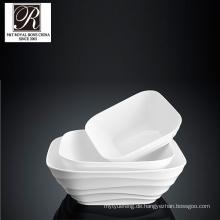 Hotel Ozean Linie Mode Eleganz weiß Porzellan Platz Suppe Platte PT-T0610