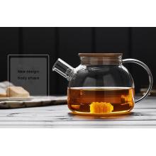 Hitzebeständigkeit Hohe Borosilikatglas Teekanne Geschirr für Großhändler
