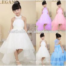 Weihnachtsförderung !!! Mädchen-Kommunion-Partei-Abschlussball-Prinzessin-Partei-Qualitäts-Sleeveless weißes Blumen-Mädchen-Kleid mit langem Schwanz