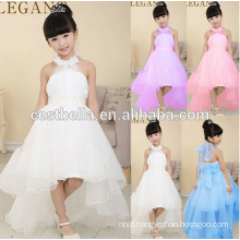Christmas Promotion!!! Girl Communion Party Prom Princess Party High Quality Sleeveless White Flower Girl Dress With Long Tail