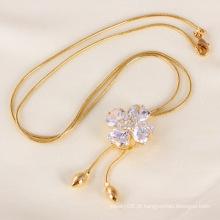 Última moda jóias colar de ouro para as mulheres