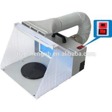 HS-E420DCLK pulverização airbrush extractor mini cabine