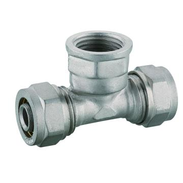 Female Tee for PEX Brass Fittings