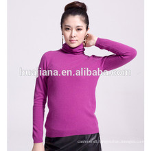 100% cashmere woman's sweater turtleneck