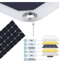 Single Crystal Flexible Solar Panel