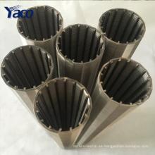 0.25 mm 0.5 mm 1 mm ranura 304 alambre de cuña de acero inoxidable de minería tamizado malla de filtro
