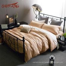 Super moda california extra tamanho Pima algodão cama capa de edredão conjunto com travesseiro decorativo
