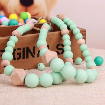 Silicone+Beaded+Baby+Teething+Necklace+Jewelry