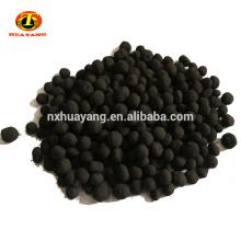Esfericidad de carbón antracita activado tratamiento de gas de carbono