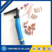 Tig soldadura antorcha consumibles accesorios kits para WP-9/20/25