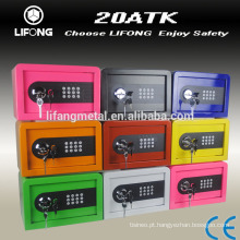 Colorful good quality cheap small digital lock gift safe box