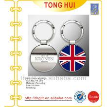 Custom enamel flag logo keychain/keyring metal