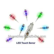 Cargador transparente colorido del coche del tacto del LED de la alta calidad para Samsung
