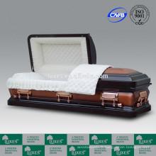 LUXES américain personnalisé 18ga cercueil métallique d'acier