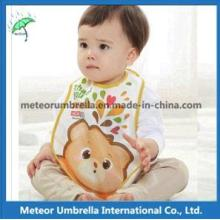 OEM Promotion Gift Printing Waterproof 3D Cartoon PEVA Baby Bibs