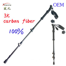 ninghai xia guang tourist necessities factory 3K carbon fiber hiking adjustable walking stick