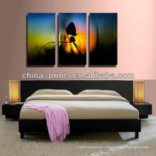 Multi-painéis pintura abstrata da lona para o quarto