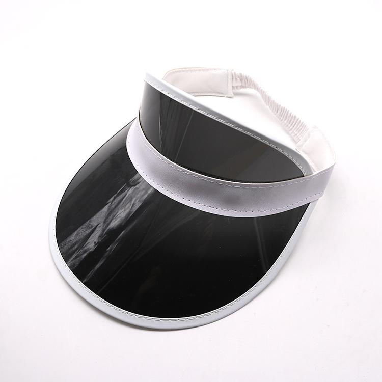 black transparent pvc visor cap