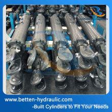 Cilindro de óleo hidráulico de 3 polegadas para tubo de descarga