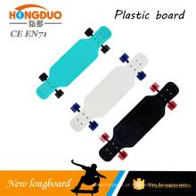 Skate de plástico de roda PU de 28 * 10 polegadas 4 com plataforma PP